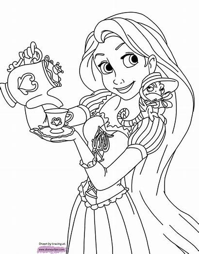Rapunzel Coloring Tangled Pages Disney Pascal Disneyclips