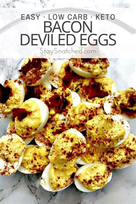 easy keto  carb bacon deviled eggs