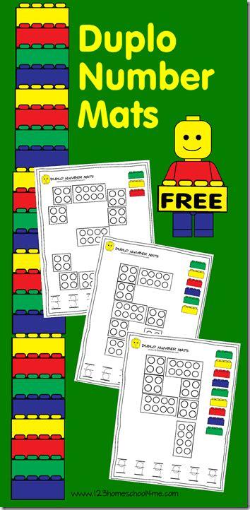 lego number mats    images numbers preschool