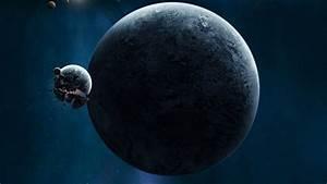 Wallpaper planet, crash, space, universe, destruction ...