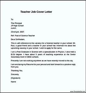 teacher job cover letter example templatezet With examples of covering letters for teaching jobs