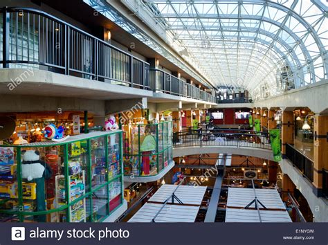 interior of lonsdale quay public market and shopping mall