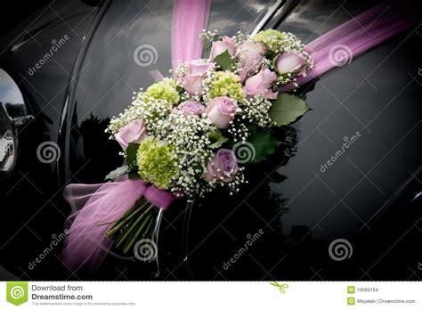 wedding car  flowers stock images image