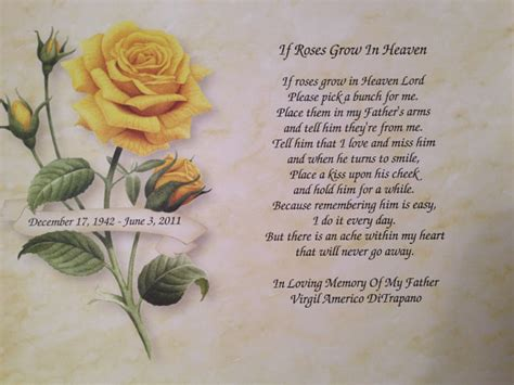 memory ls for deceased if roses grow in heaven images personalized if roses
