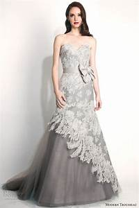 modern trousseau fall 2015 wedding dresses wedding inspirasi With grey lace wedding dress