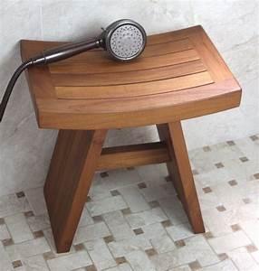 Original Asian Style 18quot Teak Shower Bench
