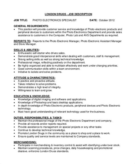 Electronic Retail Sales Resume by Sle Sales Associate Description 9 Exles In Pdf Word