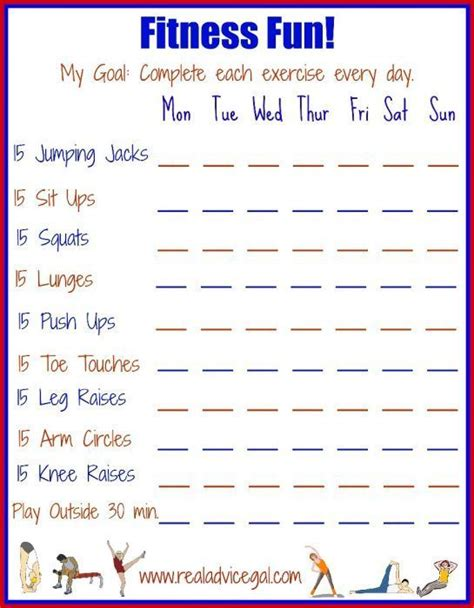 fun fitness printable      guide