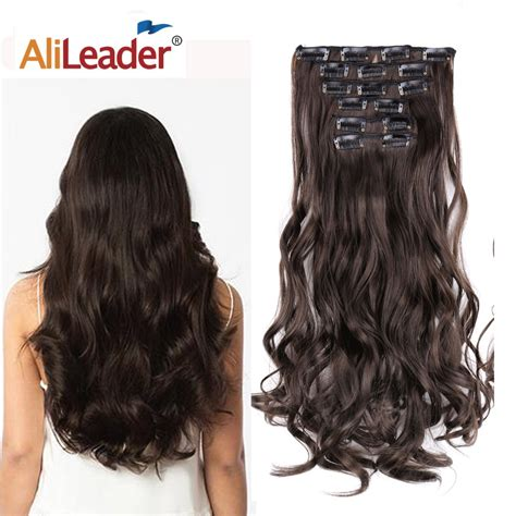 Alileader 140g 16clips Long Wavy Hairstyles Synthetic