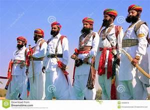 Indian Men In Traditional Dress Taking Part In Mr Desert ...
