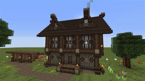 minecraft  story medieval house  horse stablestutorial youtube