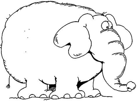 elefante grasso disegno da stampare  da colorare