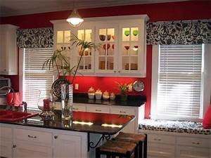 red white kitchen ideas With kitchen colors with white cabinets with black white and red wall art