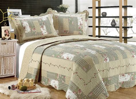 55 All For You 3pc Quilt Set, Bedspread And Coverletgray