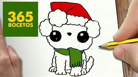 como dibujar un perro para navidad paso a paso dibujos