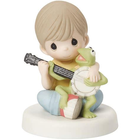 Meme Figurines - disney the muppets music is what friendship sounds like bisque porcelain figurine kermit