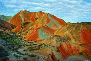 Rainbow Mountains in China's Danxia Landform Geological Park