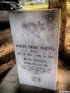 butte mt evel knievels  jump  grave