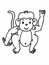 Monkey Coloring Pages Printable sketch template