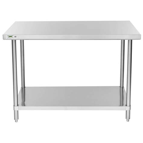 30 x 48 stainless steel table regency 30 quot x 48 quot 16 gauge 304 stainless steel commercial