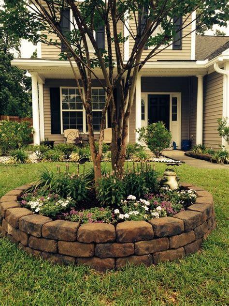 best 10 rock flower beds ideas on landscape