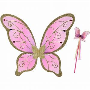 Royal Pink Butterfly Fairy Wings & Wand Set at Serendipity ...
