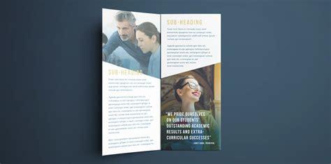 college brochure template simple tri fold design