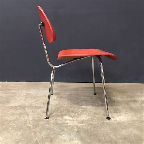 1946, Ray and Charles Eames for Vitra, DCM Chair in Red ...