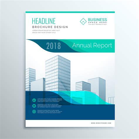 Blue And Green Vector Brochure Flyer Design Template Modern Blue Annual Report Brochure Flyer Template Design