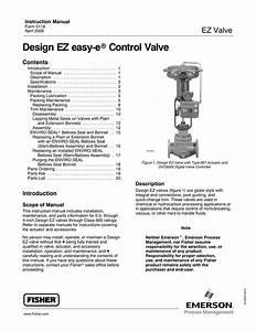 Fisher Design Ez Valve Manual