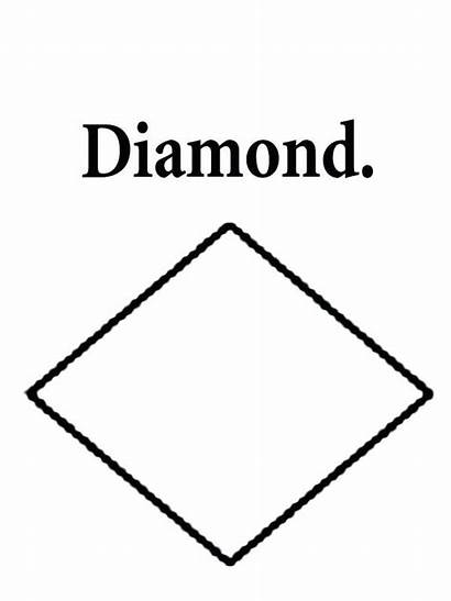 Diamond Coloring Pages Shapes Simple Shape Printable