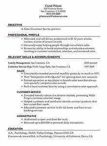 resume sample sales customer service job objective With great sales resume