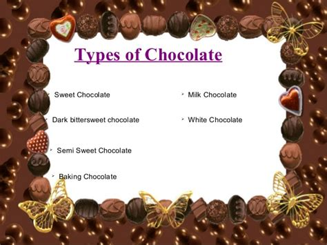 types of chocolate christmas chocolate