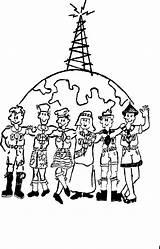 Jamboree Air Boy Sketch Scouts Ribosomes Clipart Sketchite Bol Afkomstig Van Library Template sketch template