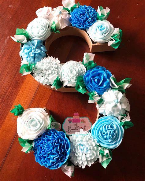 monogram cupcake buttercream petal flowers cake lettering monogram cupcakes alphabet cake