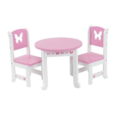 18 doll furniture table and chairs 18 inch doll furniture butterfly collection table and 2