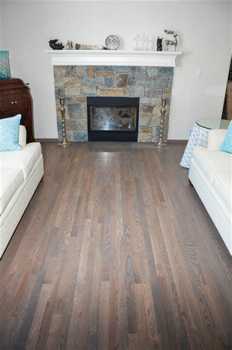 hardwood flooring traditional red oak  classic grey