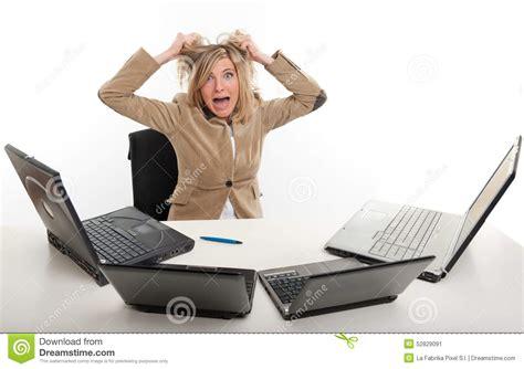 au bureau panique au bureau image stock image du beau technologie
