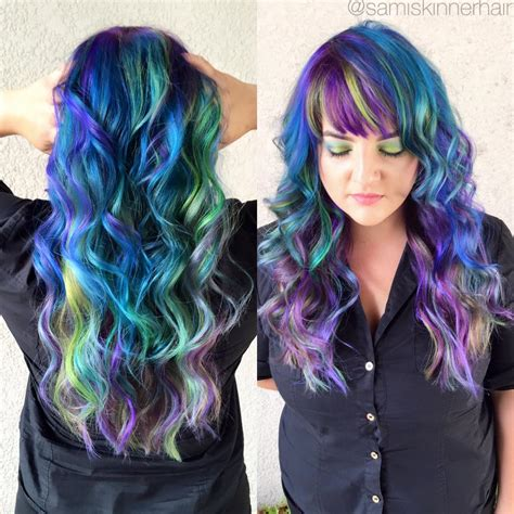 multi hair color magical multi colored hair hair studio