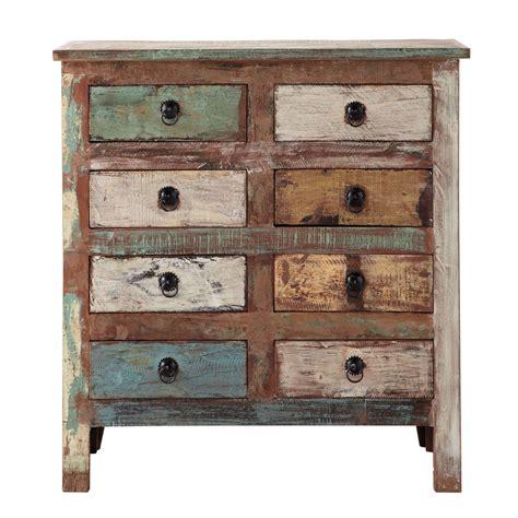meuble chambre de bébé cabinet de rangement en bois recyclé l 80 cm calanque
