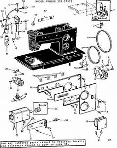 Kenmore Model 15817572 Mechanical Sewing Machines Genuine