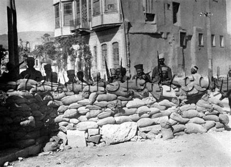 syrian history french barricades erected  damascus