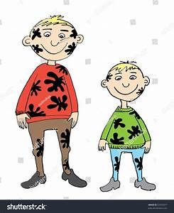 Dirty Kids Two Brothers Stock Illustration 53555017 ...