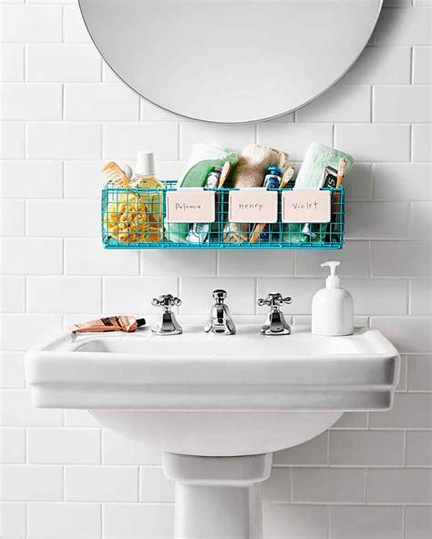bathroom organization tips martha stewart