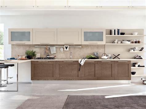 cucina lineare  legno gallery cucina lineare cucine lube