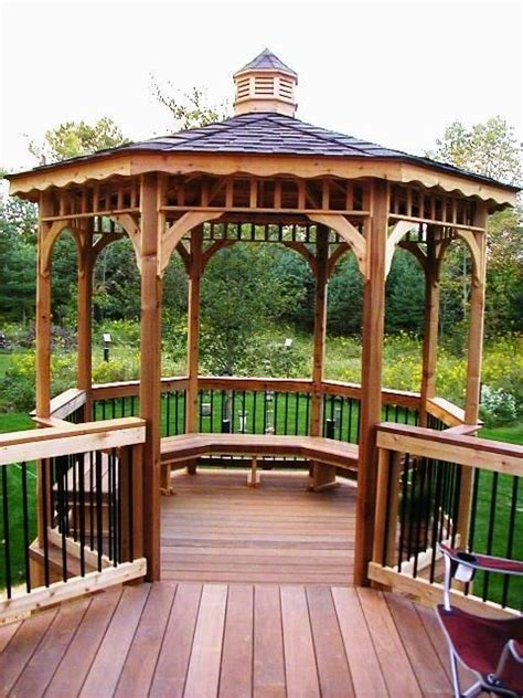 deck with gazebo 17 best images about decks on deck benches