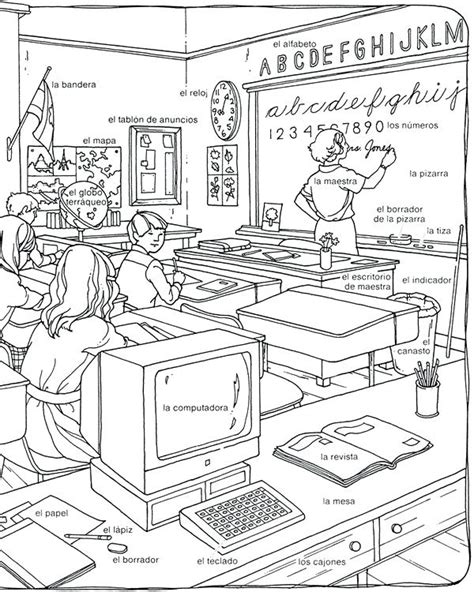 Classroom Coloring Pages Classroom Objects Coloring Pages Classroom Coloring Pages