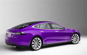 2014 Tesla Model S Beautiful Purple Tesla Car Stuff I