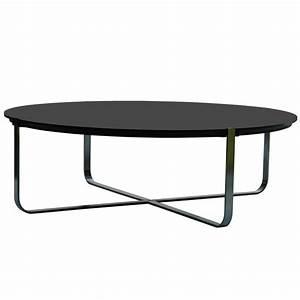 Table Basse Noire Ronde : table basse design ronde c1 blanche pure deco design ~ Teatrodelosmanantiales.com Idées de Décoration