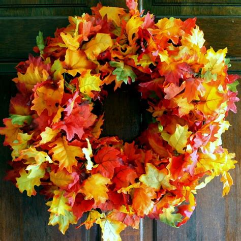 Quick And Easy Diy Fall Wreath Allfreeholidaycraftscom
